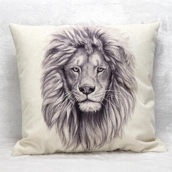 PinKart-USA Online Shopping 45x45cm / Style 10 Wild Animal Decorative Cushion Cover 45X45Cm (18X18In) Elephant Owl Elk Square Throw Pillow Cover