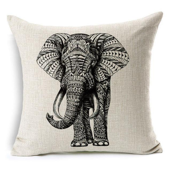 PinKart-USA Online Shopping 45x45cm / Style 12 Wild Animal Decorative Cushion Cover 45X45Cm (18X18In) Elephant Owl Elk Square Throw Pillow Cover