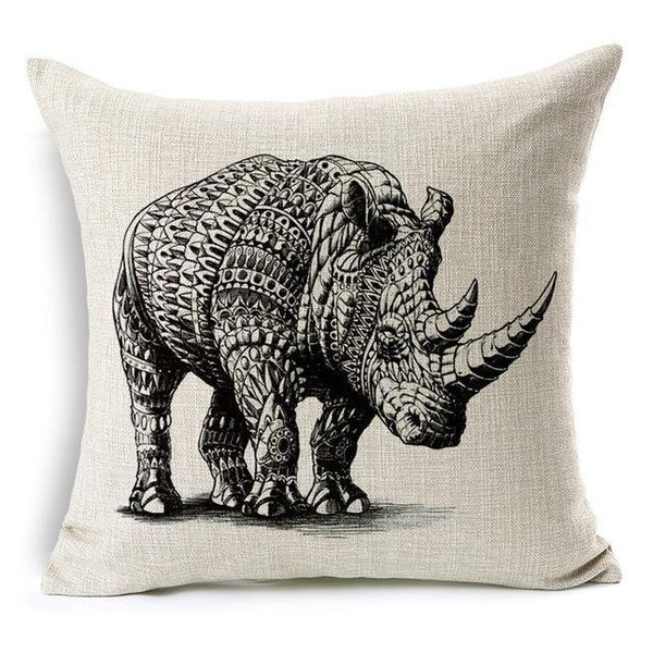 PinKart-USA Online Shopping 45x45cm / Style 14 Wild Animal Decorative Cushion Cover 45X45Cm (18X18In) Elephant Owl Elk Square Throw Pillow Cover