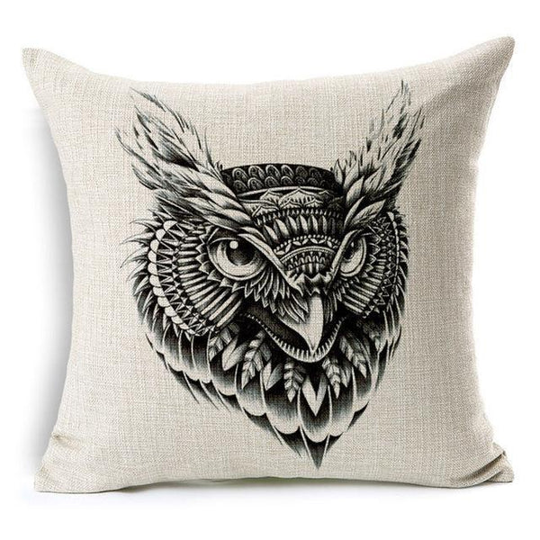 PinKart-USA Online Shopping 45x45cm / Style 15 Wild Animal Decorative Cushion Cover 45X45Cm (18X18In) Elephant Owl Elk Square Throw Pillow Cover
