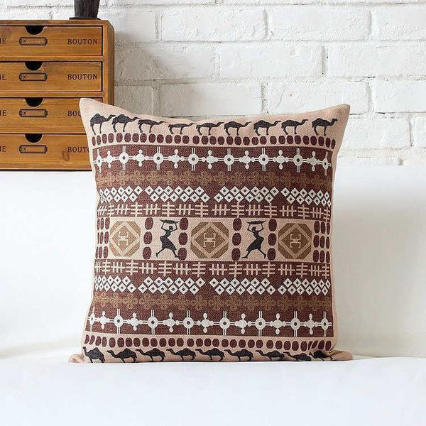 PinKart-USA Online Shopping 45x45cm / Style 2 Bohemian Style Cushion Cover Set Passionate Elephant Floral Printed African Style Throw Cushion