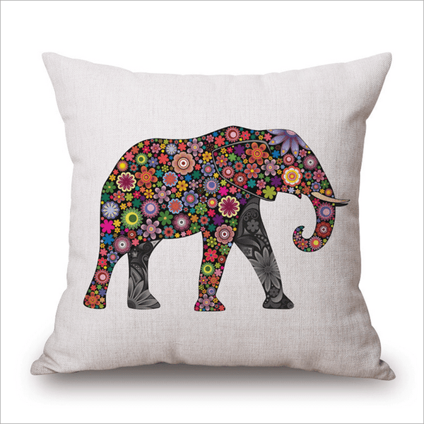PinKart-USA Online Shopping 45x45cm / Style 21 Wild Animal Decorative Cushion Cover 45X45Cm (18X18In) Elephant Owl Elk Square Throw Pillow Cover