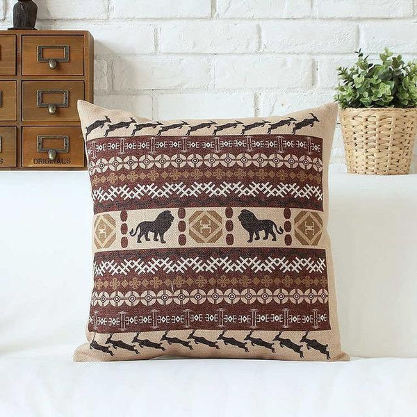 PinKart-USA Online Shopping 45x45cm / Style 3 Bohemian Style Cushion Cover Set Passionate Elephant Floral Printed African Style Throw Cushion