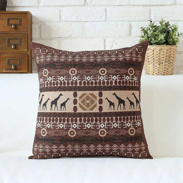 PinKart-USA Online Shopping 45x45cm / Style 4 Bohemian Style Cushion Cover Set Passionate Elephant Floral Printed African Style Throw Cushion