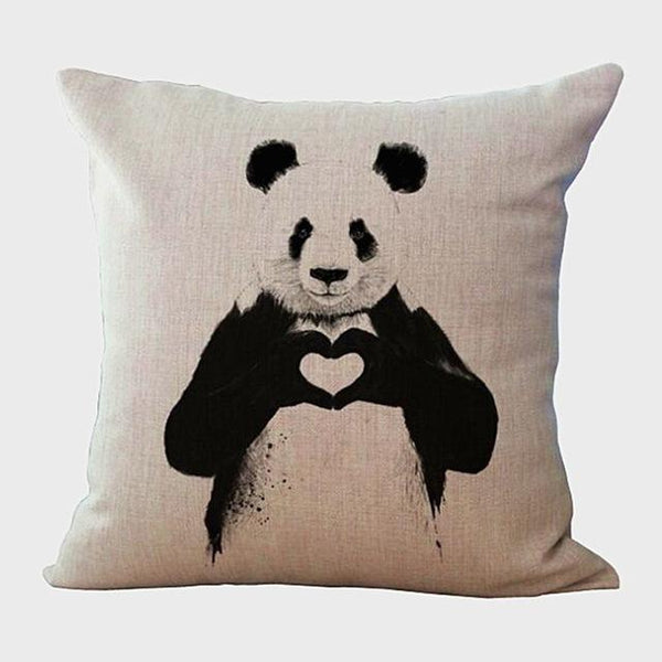 PinKart-USA Online Shopping 45x45cm / Style 9 Wild Animal Decorative Cushion Cover 45X45Cm (18X18In) Elephant Owl Elk Square Throw Pillow Cover