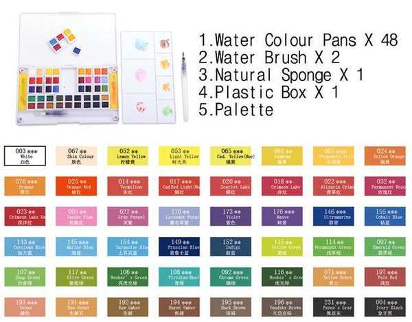 PINkart-USA Online Shopping 48Colors Superior 12 24 30 36 40Colors Pigment Solid Watercolor Paints Set Colored Pencils For Drawing