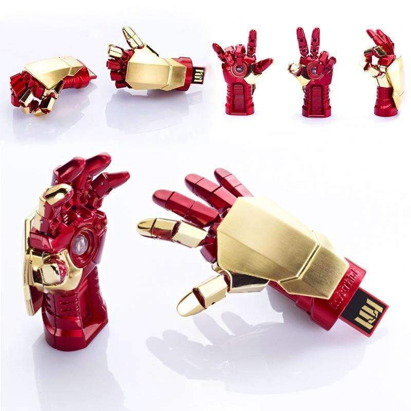 PinKart-USA Online Shopping 4GB / Left Amthin Usb Flash Drive Creative Iron Man Pendrive Palm Shape Movable Joint U Disk Portable 4G 8G 16