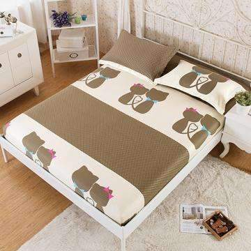 PinKart-USA Online Shopping 5 / 180x200x25cm 100% Cotton Modern Bed Sheets Colorful Cartoon Printing Bedding Fitted Sheet Simply Elastic