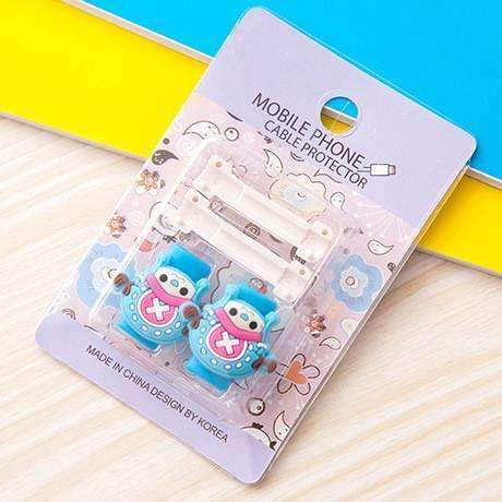 PinKart-USA Online Shopping 5 1Pc Fashion Cute Cartoon Usb Cable Protector Cover Case For Apple Iphone Android Charger Data
