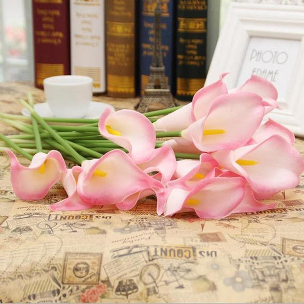 PinKart-USA Online Shopping 5 20 Pcs/Lot Wedding Decoration Elegant Calla Artificial Flowers Decorative Flowers Bouquet