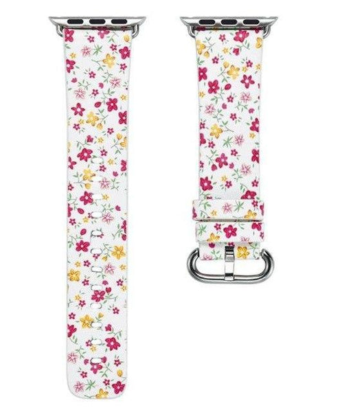 PINkart-USA Online Shopping 5 / 38mm Flower Gift Christmas Pattern Leather Strap For Apple Watch Band 42 38 40 44Mm Iwatch Series