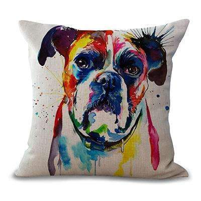 PinKart-USA Online Shopping 5 / 44x44cm No Filling Miracille Square 18 French Bulldog Printed Decorative Sofa Throw Cushion Pillows Pets Dogs