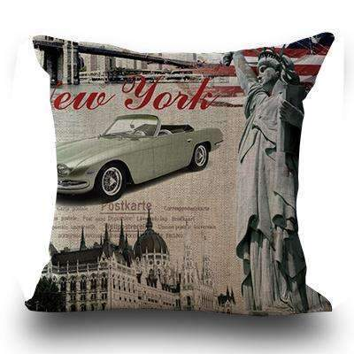 PinKart-USA Online Shopping 5 / 45x45cm Just Cover Miracille Fashion European Decorative Cushions London Style Throw Pillows Car Home Decor Cushion