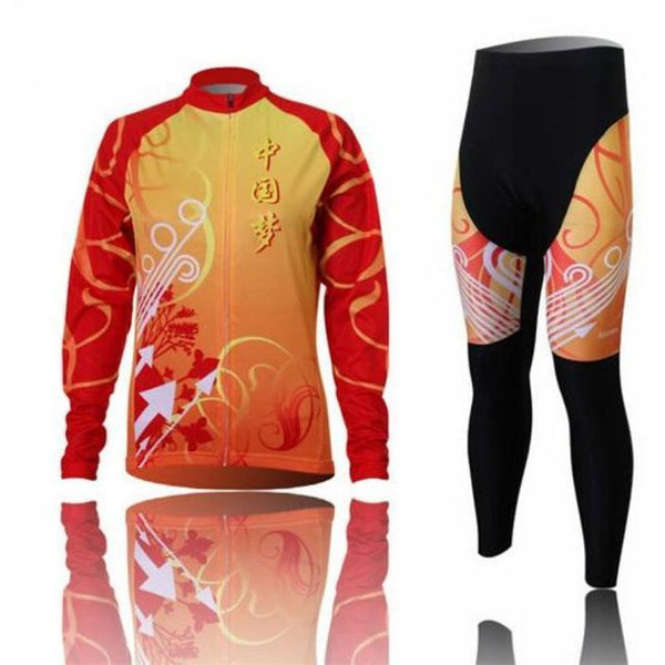 PINkart-USA Online Shopping 5 / L Women'S Cycling Jersey Sets Winter Long Sleeve Mtb Bicycle Cycling Clothing Maillot Ciclismo