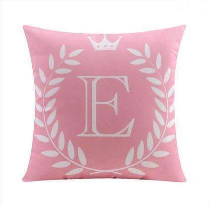 PinKart-USA Online Shopping 5 no filling / 45x45cm 26 Letters Cushions Decorative Pillow Almofada Colorful Pillow Linen Cotton Throw Pillow Cushion Fo