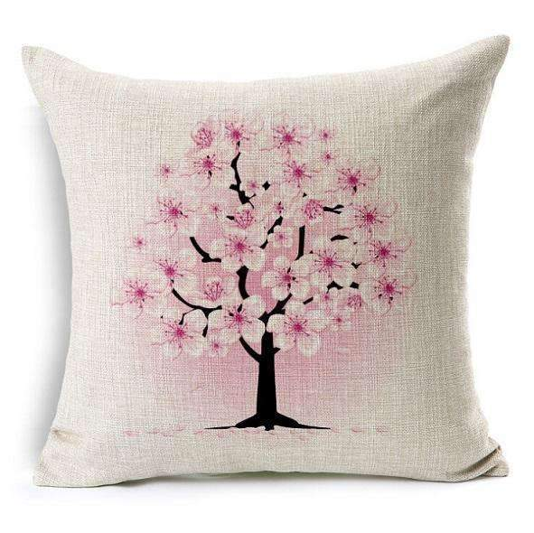PinKart-USA Online Shopping 5 no filling / 45x45cm Flower Decorative Pillows Home Car Tree Cushions Funda Cojines Wave Coussin Decoration Ch5D07