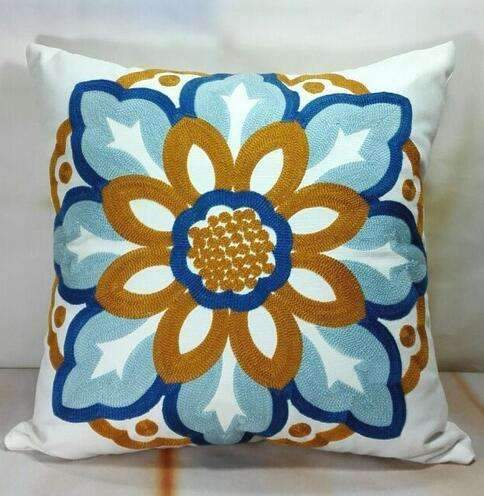 PinKart-USA Online Shopping 5 no filling Hot National Style Sofa /Carcushions Flowers And Fashion Pillows Decorate Hand-Embroidered