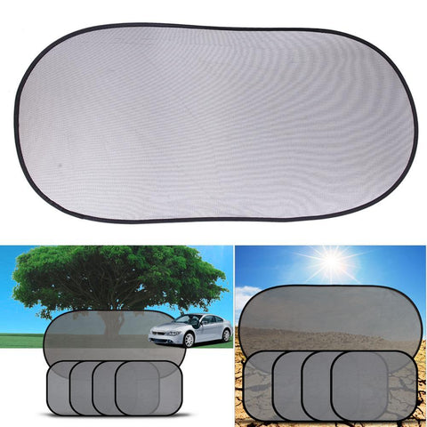PINkart-USA Online Shopping 5 Pcs Black Auto Sun Visor Car Sun Shade Car Window Suction Cup Car Curtain Auto Sun Shade Car