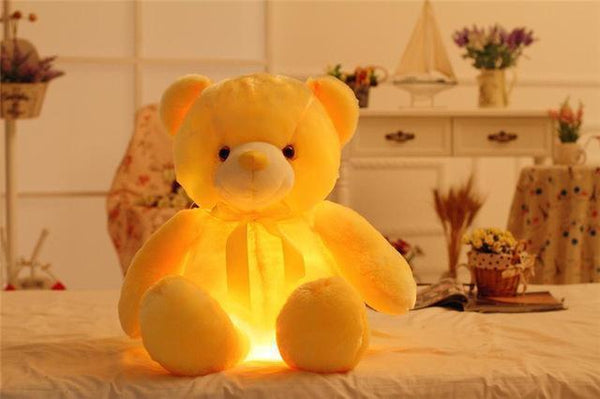 PINkart-USA Online Shopping 50cm 3 32/50Cm Big Colorful Glowing Teddy Bear Luminous Plush Toys Kawaii Light Up Led Teddy Bear