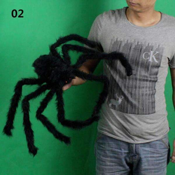 PinKart-USA Online Shopping 50cm 30/50/75Cm Large Spider Made Of Wire And Plush Two Style Funny Toy Props Spider For Party Bar Ktv