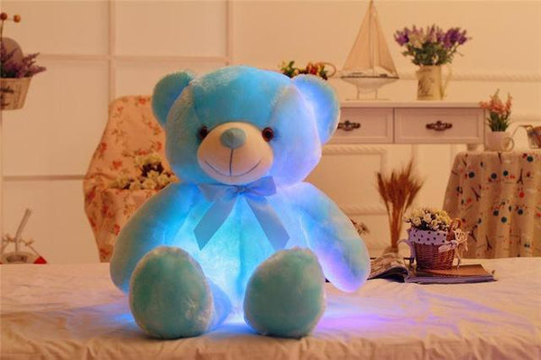 PINkart-USA Online Shopping 50cm 32/50Cm Big Colorful Glowing Teddy Bear Luminous Plush Toys Kawaii Light Up Led Teddy Bear