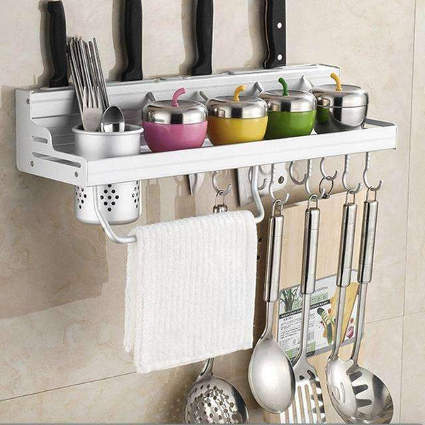 PinKart-USA Online Shopping 50cm one cup Aluminum Kitchen Shelf, Kitchen Rack, Cooking Utensil Tools Hook Rack, Kitchen Holder & Storage