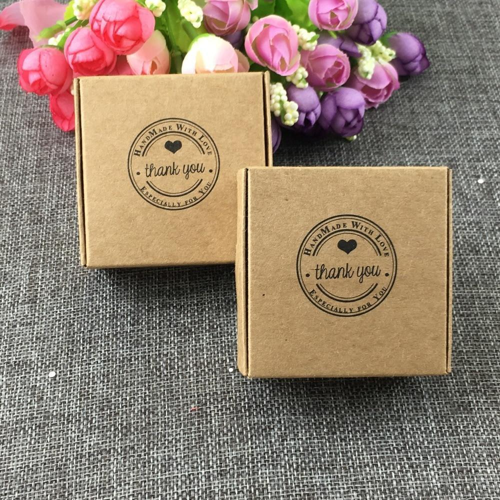 "PINkart-USA Online Shopping 50Pcs Kraft Gift Boxes,Wedding Candy Box Paper Packaging Boxes ""Thank You"" Boxes/Gift Stroage"