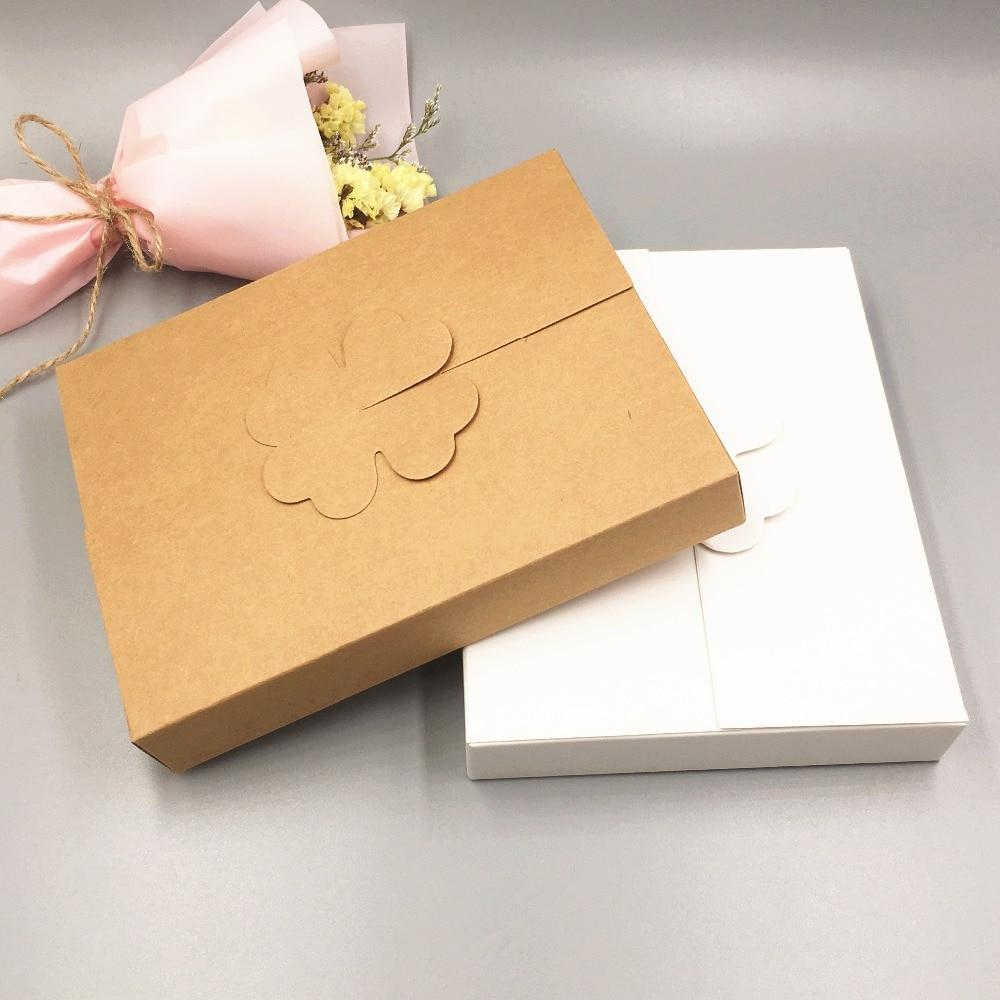 PINkart-USA Online Shopping 50Pcs Kraft Paper Cake Knife/Fork Packaging Boxes 16X12.6X2.5Cm Diy Wedding Party Favors Handmade
