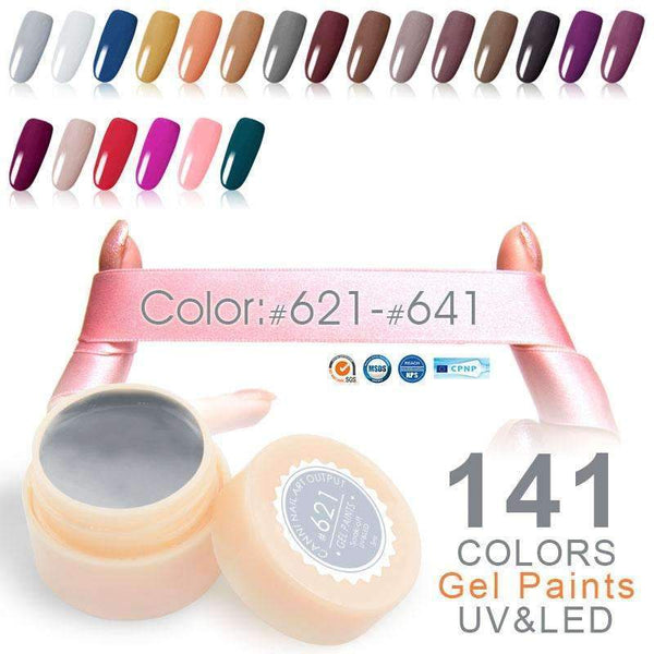 PinKart-USA Online Shopping 530 White Color Canni High Quality Led Paint Gel 5Ml 141 Pure Colors Soak Off No Chipping Off Or Wrinkle Uv