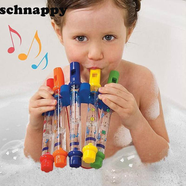 PINkart-USA Online Shopping 5Pcs/1 Row Water Flute Toy Kids Children Colorful Water Flutes Bath Tub Tunes Toys Fun Music