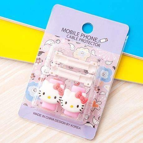 PinKart-USA Online Shopping 6 1Pc Fashion Cute Cartoon Usb Cable Protector Cover Case For Apple Iphone Android Charger Data