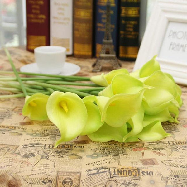 PinKart-USA Online Shopping 6 20 Pcs/Lot Wedding Decoration Elegant Calla Artificial Flowers Decorative Flowers Bouquet