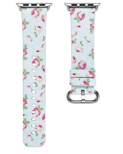 PINkart-USA Online Shopping 6 / 38mm Flower Gift Christmas Pattern Leather Strap For Apple Watch Band 42 38 40 44Mm Iwatch Series