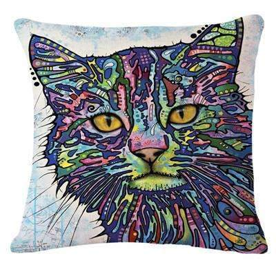 PinKart-USA Online Shopping 6 / 43x43cm Fashion Cushion Cat Print Pillow Bed Sofa Home Decorative Pillow Fundas Para Almofadas
