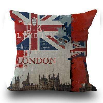 PinKart-USA Online Shopping 6 / 45x45cm Just Cover Miracille Fashion European Decorative Cushions London Style Throw Pillows Car Home Decor Cushion