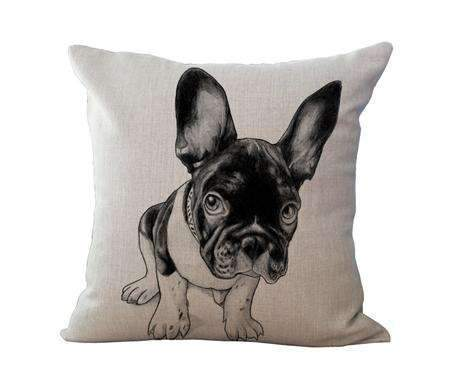 PinKart-USA Online Shopping 6 / 45x45cm No Filling Miracille 18Cotton Linen French Bulldog Digital Print Square Decorative Throw Pillow Cushions For