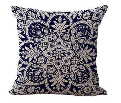 PinKart-USA Online Shopping 6 / 45x45cm Square 18 Linen Cushion Blue And White Porcelain Printed Home Decorative Cushions Almofada For