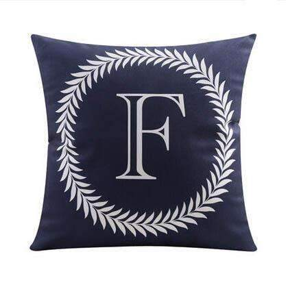 PinKart-USA Online Shopping 6 no filling / 45x45cm 26 Letters Cushions Decorative Pillow Almofada Colorful Pillow Linen Cotton Throw Pillow Cushion Fo