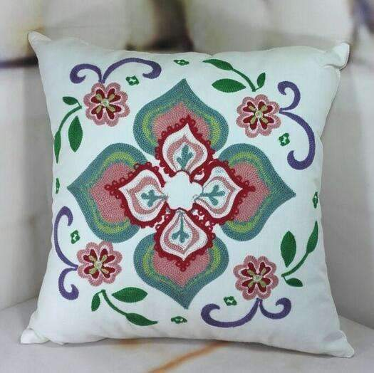 PinKart-USA Online Shopping 6 no filling Hot National Style Sofa /Carcushions Flowers And Fashion Pillows Decorate Hand-Embroidered