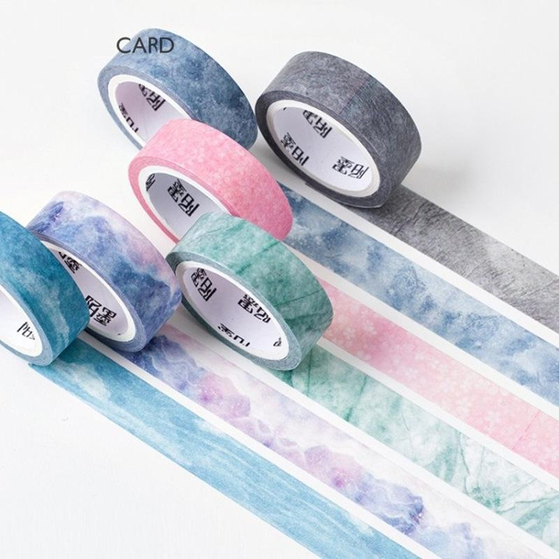 PINkart-USA Online Shopping 6 Pcs/Lot Nature Color Washi Tape Set Blue Sky Purple Star Pink Sakura Deco Paper Masking Tapes