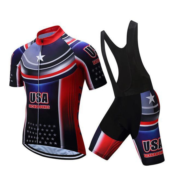 PINkart-USA Online Shopping 6 / S Teleyi Brand Pro Team Racing Sport Cycling Jersey Sets Men Usa Style Mtb Road Bike Jersey Quick Dry