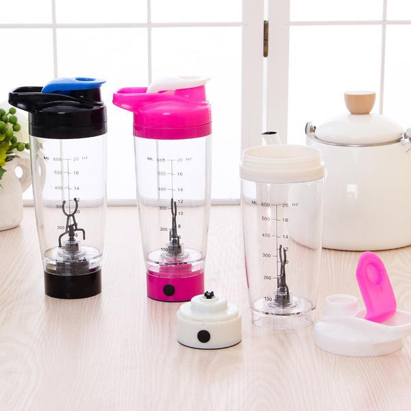 PINkart-USA Online Shopping 600Ml Electric Automation Protein Shaker Blender My Water Bottle Automatic Movement Outdoor Tour
