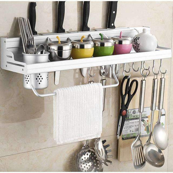PinKart-USA Online Shopping 60cm one cup Aluminum Kitchen Shelf, Kitchen Rack, Cooking Utensil Tools Hook Rack, Kitchen Holder & Storage