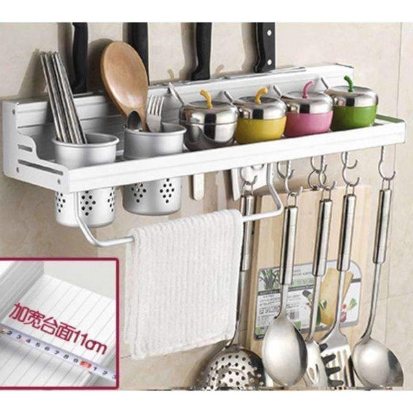 PinKart-USA Online Shopping 60cm two cups Aluminum Kitchen Shelf, Kitchen Rack, Cooking Utensil Tools Hook Rack, Kitchen Holder & Storage