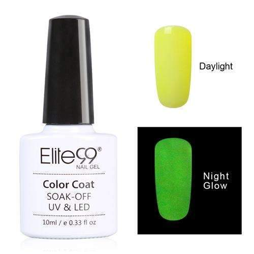 PinKart-USA Online Shopping 6702 Elite99 10Ml Night Glow In Dark Nail Gel Polish Fluorescent Luminous Nail Polish Lacquer 24 Candy
