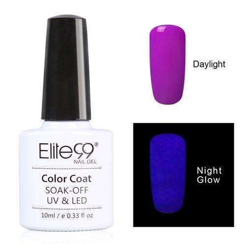 PinKart-USA Online Shopping 6706 Elite99 10Ml Night Glow In Dark Nail Gel Polish Fluorescent Luminous Nail Polish Lacquer 24 Candy