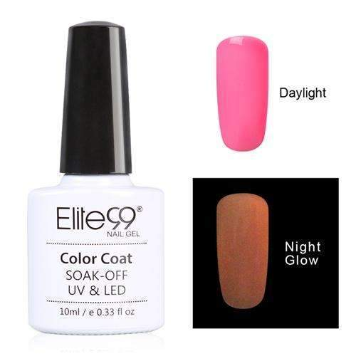 PinKart-USA Online Shopping 6707 Elite99 10Ml Night Glow In Dark Nail Gel Polish Fluorescent Luminous Nail Polish Lacquer 24 Candy