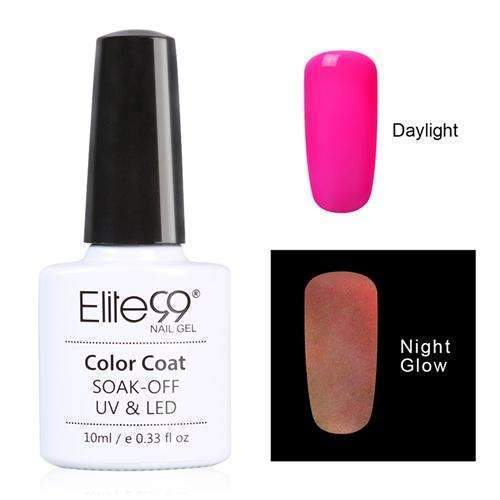 PinKart-USA Online Shopping 6708 Elite99 10Ml Night Glow In Dark Nail Gel Polish Fluorescent Luminous Nail Polish Lacquer 24 Candy