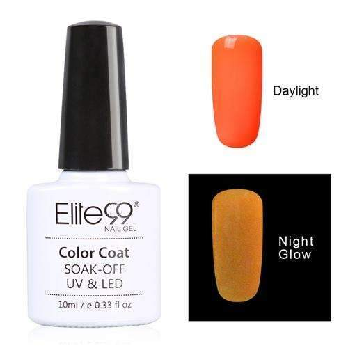 PinKart-USA Online Shopping 6710 Elite99 10Ml Night Glow In Dark Nail Gel Polish Fluorescent Luminous Nail Polish Lacquer 24 Candy