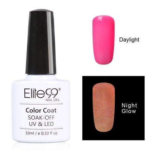 PinKart-USA Online Shopping 6711 Elite99 10Ml Night Glow In Dark Nail Gel Polish Fluorescent Luminous Nail Polish Lacquer 24 Candy
